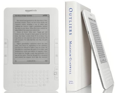 Kindle with a book